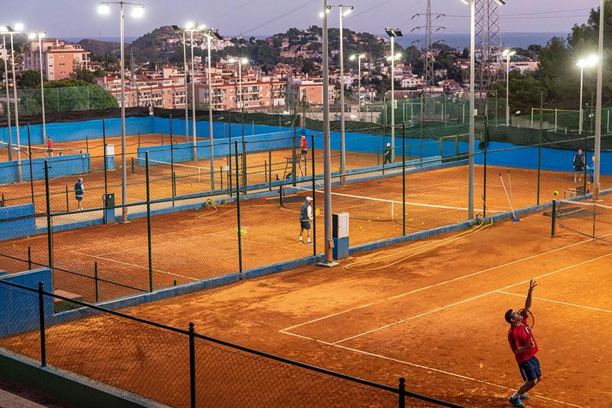Andled Energy ilumina el tenis en Málaga