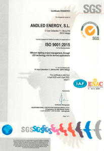 Andled - ISO 9001 Certificate