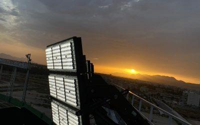 Iluminamos el estadio alicantino de Martínez Valero