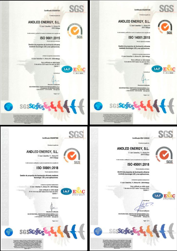 Andled - Certificados ISO