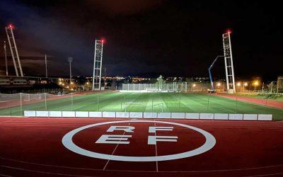 Andled renueva la iluminación de la sede de la RFEF